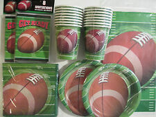 FOOTBALL SPIRAL -  Birthday Party Supply Set Pack Kit for 16 w/ Invitations