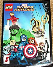 MARVEL SUPERHEROES MINI COMIC 2 RARE LEGO GIVEAWAY PROMO AVENGERS IRON MAN HULK