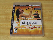 SingStar Latino Spanish Songs (Sony Playstation 3, 2009)  *** Factory Sealed ***