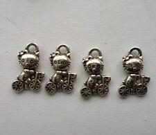 50 pcs Tibetan silver animal charm pendant  12x7mm