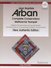 Jean Baptiste Arban Completo Conservatorio método Para Trompeta libro de música/MP3CD