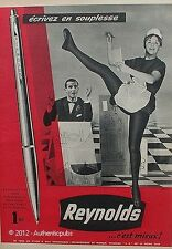PUBLICITE REYNOLDS STYLO A BILLE RETRACTABLE 3R SERVEUSE DE 1960 FRENCH AD PEN