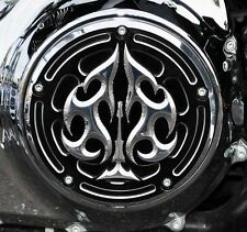 PRECISION BILLET BLACK CC DERBY COVER ACE'S WILD HARLEY BIG TWIN  MODELS