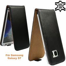 Unifarbene Handy-Etuis aus Leder für das Samsung Galaxy S5
