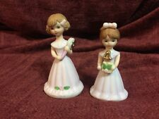 Two Vintage Enesco Birthday Girls Ages 4 And 5