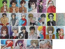 PICK 5 ACEO card LOT anime fanart ATC Attack Titan Exorcist Butler Inuyasha Soul