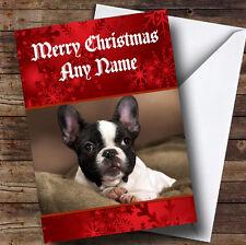 French Bulldog Personalised Christmas Greetings Card
