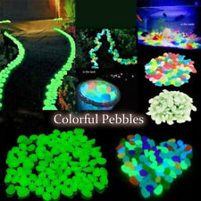 100pcs Luminous Stones Pebble Gardening Aquarium Landscaping Pebble Vill