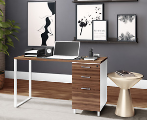 MILANO Home & Office Computer Desk with 3 lockable drawers