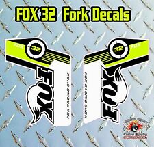 FOX 32 2014 FORK Adesivi Decalcomanie Grafiche mountain bike Down Hill MTB Verde
