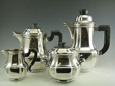 CHRISTOFLE Silver Plate - Gallia ART DECO Pattern - 4 Piece Tea & Coffee Set