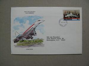 NEW HIBRIDES, cover FDC 1978, aeroplane Concorde