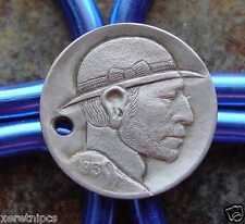 Superior Hobo Nickel Carving  ~1913~ Buffalo Nickel, High Grade TY 1 W/ Hole