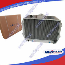 For NISSAN DATSUN RADIATOR 240Z/260Z L24/L26 3 ROW 56MM ALUMINUM AT/MT