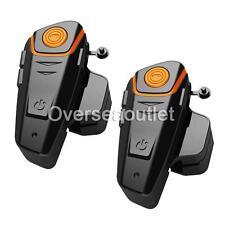 BT-S2 Bluetooth 1000m Intercom Motorcycle Helmet Headset FM Radio Earpieces