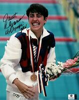 "Janet Evans Signed Autographed 8X10 Photo ""4 X Olympic Gold"" USA Swimmer 838986"