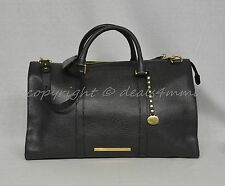 NWT Brahmin Anywhere Weekender/Duffel Bag in Black Nepal Soft Pebble Leather