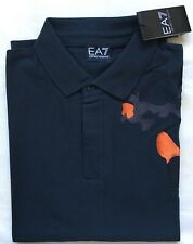 Men's Emporio Armani Polo Cotton Short Sleeve Navy Shirt Size-XL RRP£85