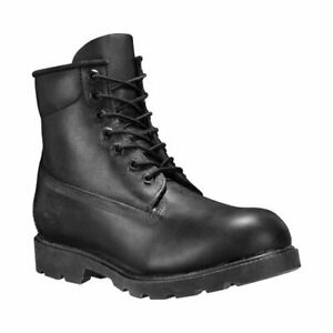 Timberland Men's 6 Inch Classic Boots Black Leather Waterproof NEW TB010069001