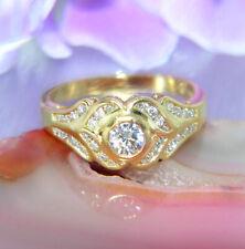 vintage Diamant Ring 750 Gold / 18 kt Citior IF - VS W 0,55 ct Diamonds
