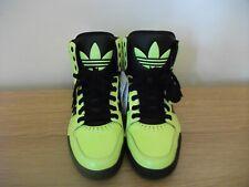 Rare Adidas Court Attitude Hi top Big tongue Green Black New with Tags UK 9