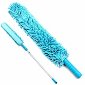 Extendable Microfibre Feather Duster Noodle Cleaning Flexible Long Reach Handle
