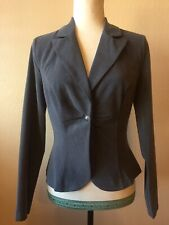 My Michelle Gray 1 Button Career Casual Blazer Jacket Size 5/6 NWT
