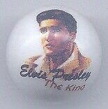 "A Elvis Presley ""The King"" Advertising Glass Marble"