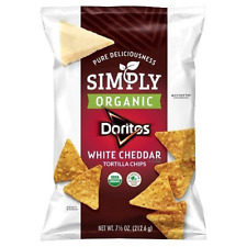 Simply Organic Doritos White Cheddar Tortilla Chips 7.5 Oz. (3 Bags)