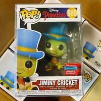 """Funko Pop NYCC 2020 : Pinocchio : Jiminy Cricket #980 Vinyl w/Protector """"MINT"""""""