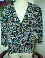 Coldwater creek black size medium cartigan top/blouse/shirt,acetate