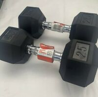 Details about  /Weider 40 LB Rubber Coated Hex Dumbell Single New Never Used Free Priority Ship