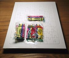 Crayola crayons and Der Grune Punkt (German) Blank Puzzle Boards - Lot of 5