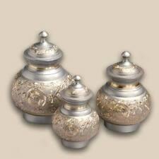 Enchanting Silver Radiance Pet Brass Cremation Urn