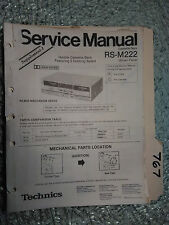Technics RS-M222 service manual original repair book stereo tape deck 24 pages