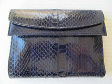 Womens FRENCH PURSE WALLET Navy BLUE  Leather - NEW with TAGS