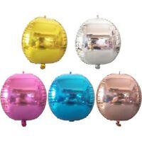 22inch Round Sphere Shape Aluminum 4D Foil Balloon Wedding Birthday Party Decor
