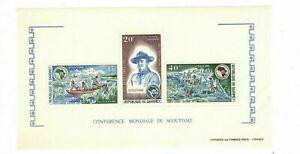 Dahomey Benin1973 Scouting Conference Boy Scouts of Souvenir Sheet