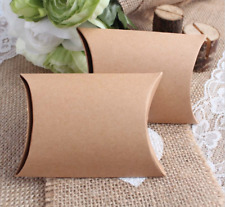 50 Kraft Paper Pillow Favor Box Wedding Party Favor Gift Candy Small Boxes