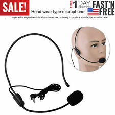 Mini Condenser MIC WIred 3.5mm Headset Microphone for Voice Amplifier Speaker US