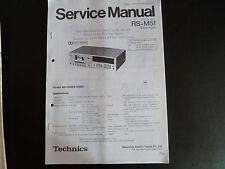 Service Manual Technics Stereo Cassetten Deck RS-M51