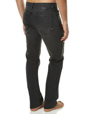 "BRAND NEW + TAG BILLABONG HITCHER REGULAR MENS SIZE 34"" DENIM JEANS WORN BLACK"