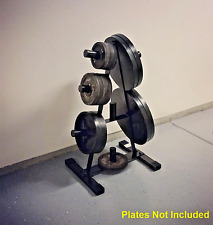 "2"" Olympic Weight Plate Rack Stand Tree Holder Storage Steel Home Gym Workout"