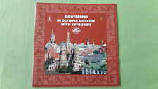 altes Reise Prospekt Sightseeing in Olympic Moscow with Intourist, 1980