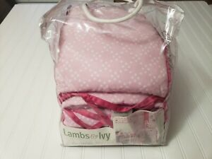 Lambs & Ivy Sprinkles Perfect Fit 4-Piece Baby Crib Bumper Pre Owned But New .