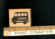 RUBBERSOUL ~SCHOOL BUS    RUBBER STAMP ~1638H
