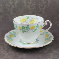 Vintage Royal Standard Yellow Flower English Bone China Tea Cup Set