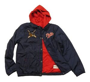 Polo Ralph Lauren Boys French Navy Polo Bear Coack Hooded Jacket