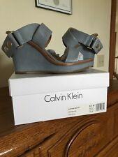 NEW! Calvin Klein Pernina Siriana Sandals Women's Size 8,5M Steel Blue