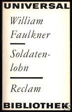 Faulkner, William; Soldatenlohn, 1967, Reclam 333